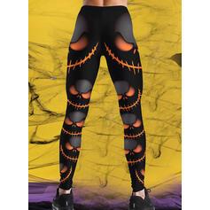 Print Plus Size Halloween Long Casual Sporty Yoga Pants Leggings