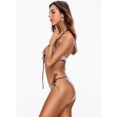 Lage Taille string string Halter Sexy Bikini's Badpakken
