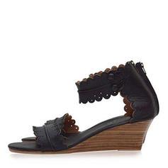 Femmes PU Talon bas Sandales Compensée avec Boucle chaussures