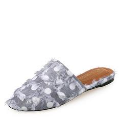 Femmes Treillis Talon plat Chaussures plates Bout fermé Escarpins Chaussons chaussures