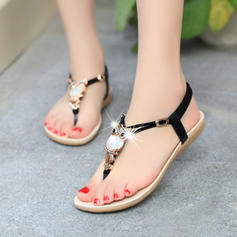 Women's Fabric Flat Heel With Buckle shoes