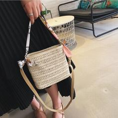 Unique Straw Shoulder Bags/Bucket Bags