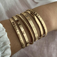 Exotic Stylish Alloy Bracelets (Set of 6)