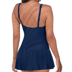 Solid Color Strap Beautiful Attractive Swimdresses Swimsuits