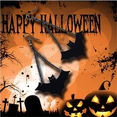Batte en forme l'Halloween Alliage PU Boucles d'oreilles 2 PCS
