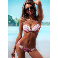 String Tropical Print Strap Sexy Bikinis Swimsuits