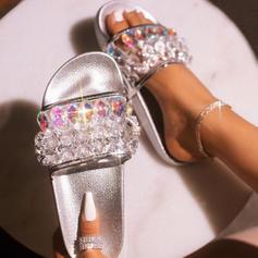 Низька підошва Сандалі взуття на короткій шпильці Тапочки з Кристал взуття