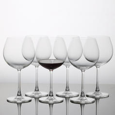 Modern Glass Wine Glasses (Set of 6)