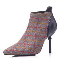 Femmes Similicuir Talon stiletto Escarpins Bottes Bottines avec Semelle chaussures