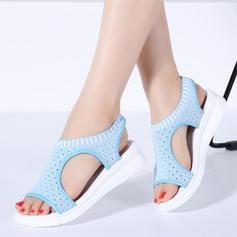 Femmes Tissu Talon plat Sandales avec Autres chaussures
