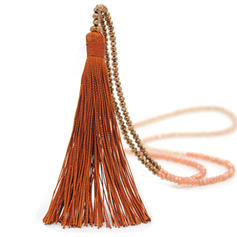 Beautiful Fashionable Simple Crystal With Tassels Women's Necklaces