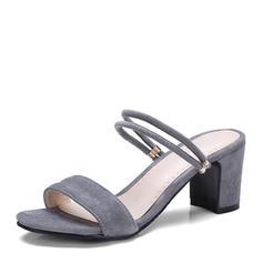 Femmes Suède Talon bottier Sandales Escarpins À bout ouvert Escarpins chaussures