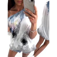 Imprimé Col Rond Manches Courtes T-shirts