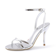 Femmes Cuir verni Talon stiletto Sandales Escarpins chaussures