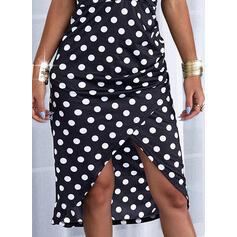 Lunares/Escotado por detrás Sin mangas Cubierta Asimétrico Casual Camisón Vestidos