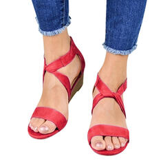 Mulheres Camurça Plataforma Sandálias Peep toe sapatos