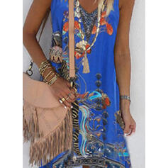 Print/Floral Sleeveless Shift Asymmetrical Casual/Boho/Vacation Dresses