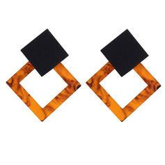 Alloy Acrylic Fashion Earrings (Set of 2)