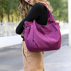 Solid Color Nylon Satchel/Hobo Bags