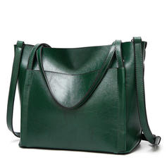 Women PU Leather Simple High Capacity Handbags Shoulder Bag
