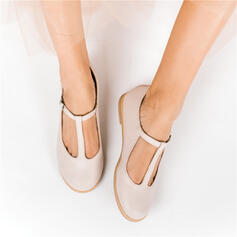 Women's PU Flat Heel Flats Closed Toe With Hollow-out shoes