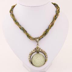 Style Vintage Alliage Résine Perles Femmes Colliers