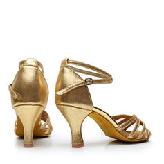 De mujer Danza latina Tacones Sandalias Cuero con Tira de tobillo Danza latina