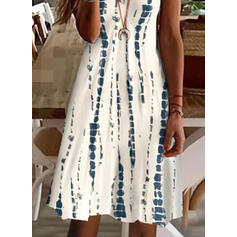 Print Sleeveless A-line Above Knee Casual/Vacation Slip/Skater Dresses