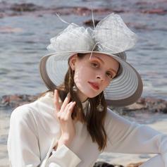 Dames Exquis/Fantaisie/Style Vintage Polyester avec Tulle Disquettes Chapeau/Kentucky Derby Des Chapeaux