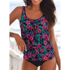 Floral Print Strap Elegant Casual Tankinis Swimsuits