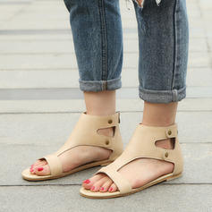Women's Leatherette Flat Heel Sandals Flats shoes