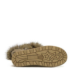 De mujer Ante Tacón plano Botas Botas longitud media Botas de nieve con Rivet Hebilla Piel Sintética zapatos