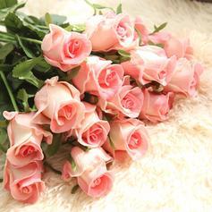 Des roses Soie Fleurs en soie ( ensemble de 2)