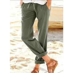 buzunare Plus Size Șnur decupată Casual Elegant Pantaloni