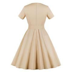 c0822e0b20 Krótkie rękawy Linia A Vintage Suknie Suknie Plus Size (199231604 ...