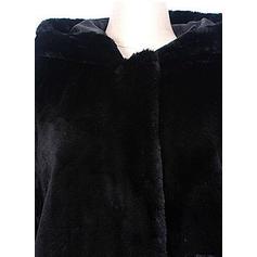 Dlouhé rukávy Jednobarevný Blend Kabáty