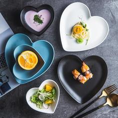 Heart Shape Porcelain Dinnerware Sets (Set of 2)
