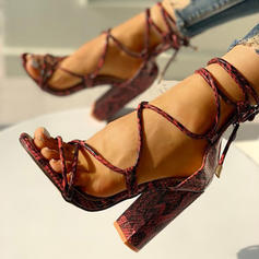 Тваринний візерунок Блискавка Зашнурувати взуття