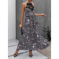 Print Sleeveless A-line Casual Maxi Dresses