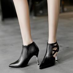Women's Leatherette Stiletto Heel Pumps Closed Toe With Zipper shoes