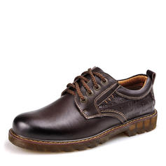 Lace-up Derbies Casual Work Real Leather Men's Men's Oxfords
