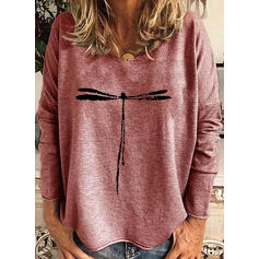 Animal Print Crew Neck Long Sleeves Sweatshirt