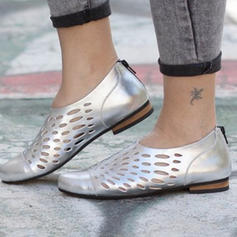 Women's PU Low Heel Pumps With Hollow-out shoes
