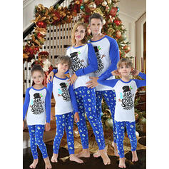 Santa Color-block Family Matching Christmas Pajamas