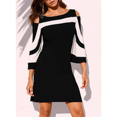 Print/Striped 3/4 Sleeves/Cold Shoulder Sleeve Sheath Above Knee Casual/Elegant Dresses