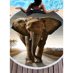 l'éléphant rond/attrayant serviette de plage