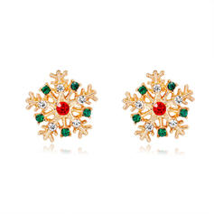 Snowflake Alloy Earrings Christmas Jewelry