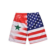 Men's Flag Star Quick Dry Board Shorts