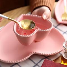 Forme de coeur Porcelaine Ensembles de vaisselle (lot De 3)