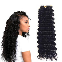 Kinky Curly Synthetic Hair Human Hair Weave (Sold in a single piece) 180g